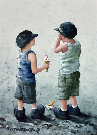 You Can Have Mine  by Keith Proctor - Original Painting on Stretched Canvas